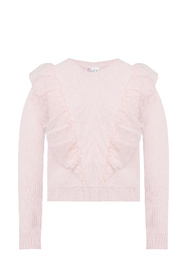 Sweater with tulle ruffle