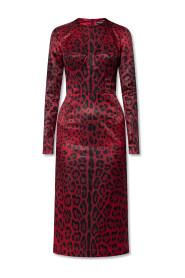 Dress with animal-motif