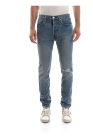 LEVIS 34268 501 SKINNY JEANS Men DENIM LIGHT BLUE