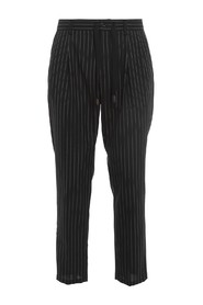 STRIPED FORMAL TROUSERS