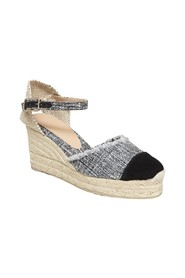 Casandra Tweed Wedge Espadrilles