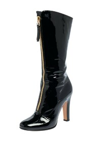 Pre-owned Zip Detail Mid Calf Boots
