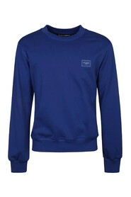 Jersey Sweatshirt With Branded Plate