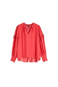 V-neck top with ruffle details H 152497