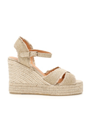Lurex wedge espadrilles
