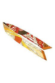 Pre-owned Printed Twilly Silk Scarf