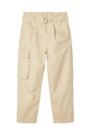 Trousers paperbag-waist cargo