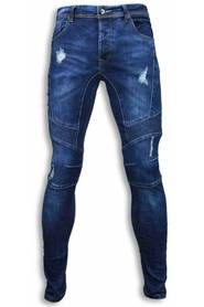 Slim Fit Jeans Damaged Biker