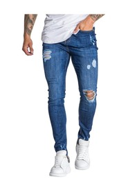 Core Slim Fit Jeans with Ripped Details
