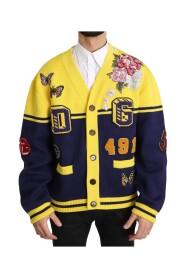Varsity Button Wool Cardigan