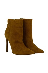 Suede ankle boots with stiletto heel