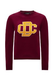 Wool sweater with logo