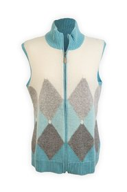 Cashmere Zip Vest Sleeveless