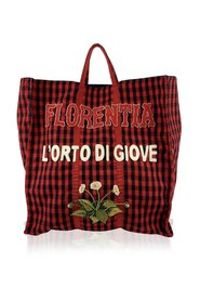 Checkered Florentia Large Tote Bag Never Used