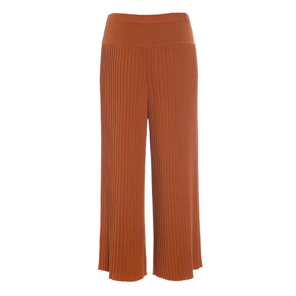 WILLOW WOOL PLEATED PANTS