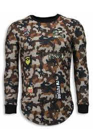 23th US Army Camouflage Shirt - Long Fit Sweater