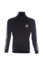 Sort Siksilk 1/4 Zip Runner Top Genser