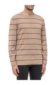 Round-Necked Sweatshirt with Stripes