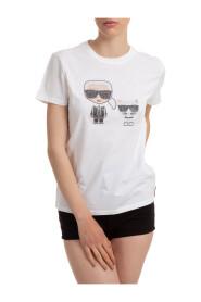 Ikonik Rhinestone T-Skjorte