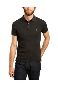 Cotton pique short sleeve fitted polo shirt