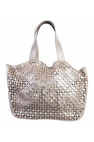 Laser Cut Leather Tote Bag