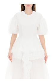 shaped t-shirt with tulle