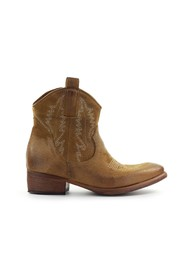 SUÈDE TEXAN ANKLE BOOT