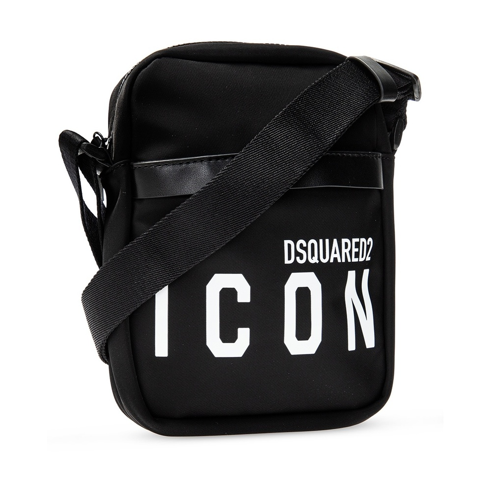 Black Shoulder bag with logo | Dsquared2 | Schoudertassen | Herentassen