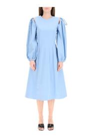 midi dress with pintucks