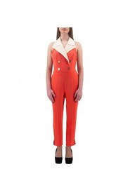 CREPE JUMPSUITS WITH LOGO BUTTONS