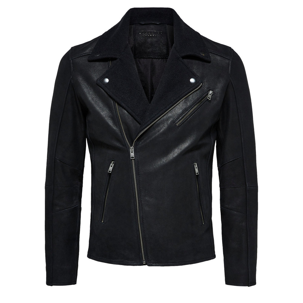 Leather jacket Wool