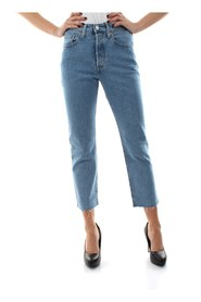LEVIS 36200 0096 - 501 CROP L.28 JEANS Women DENIM LIGHT BLUE