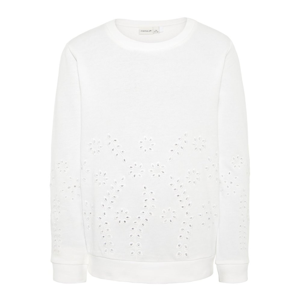 Sweatshirt broderie anglaise