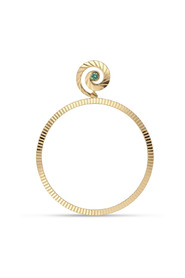 Impression Hoop with emerald, gold-plated sterling silver