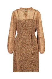 Tesara print dress lurex