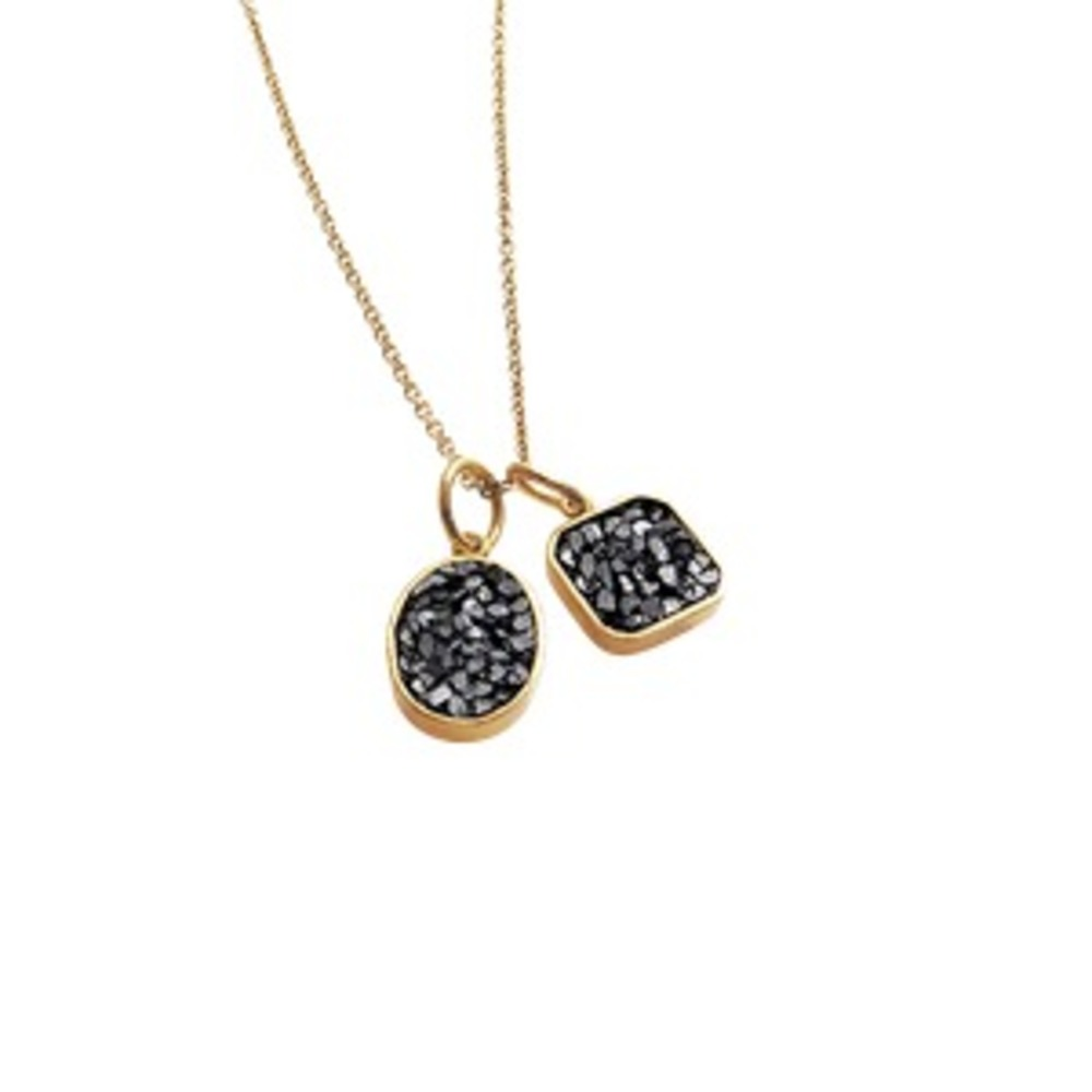 BAUMGARTEN DI MARCO RAW CUT DIAMOND DOUBLE NECKLACE GOLD-PLATED