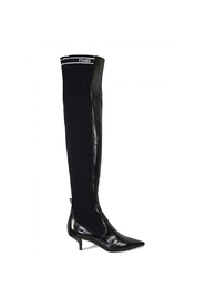 Stretch skinn over-the-knee boots