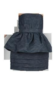 Strapless Bubble Denim Dress -Pre Owned Condition