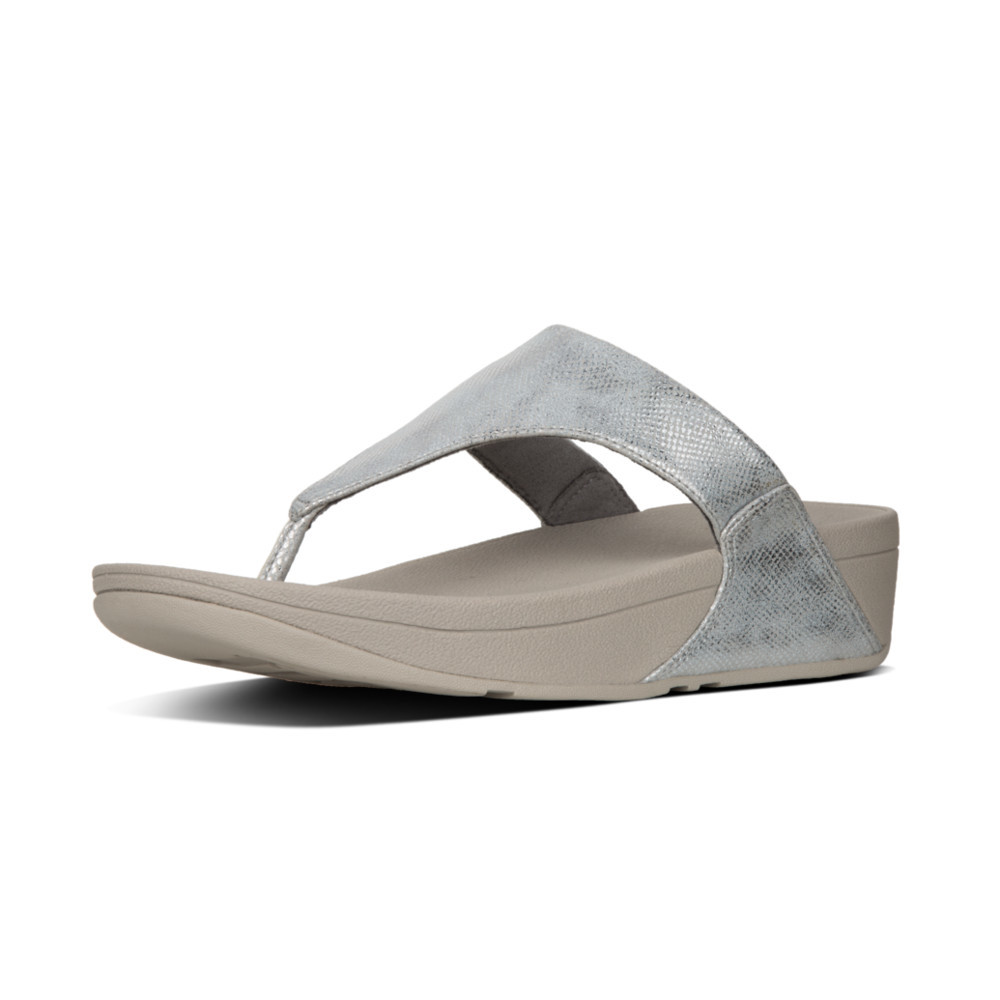 Silver Fitflop Lulu T-Thong Shimmer