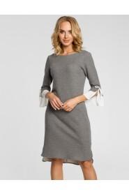 Sukienka z warstwowymi rękawami M327