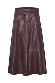 Crown Leather Skirt