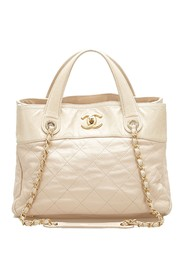 Matelasse In the Mix Satchel Leather