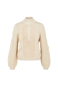 Long Sleeve ZIP KNIT PULLOVER