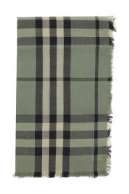 cashmere check scarf