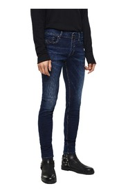 DIESEL SLEENKER 084RI JEANS Men DENIM DARK BLUE