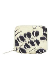 Pre-owned Printed Canvas Coin Pouch