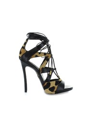 TIE ME UP ANIMALIER SANDAL