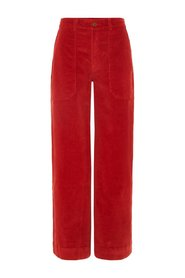 Trousers High Waist Corduroy Flared