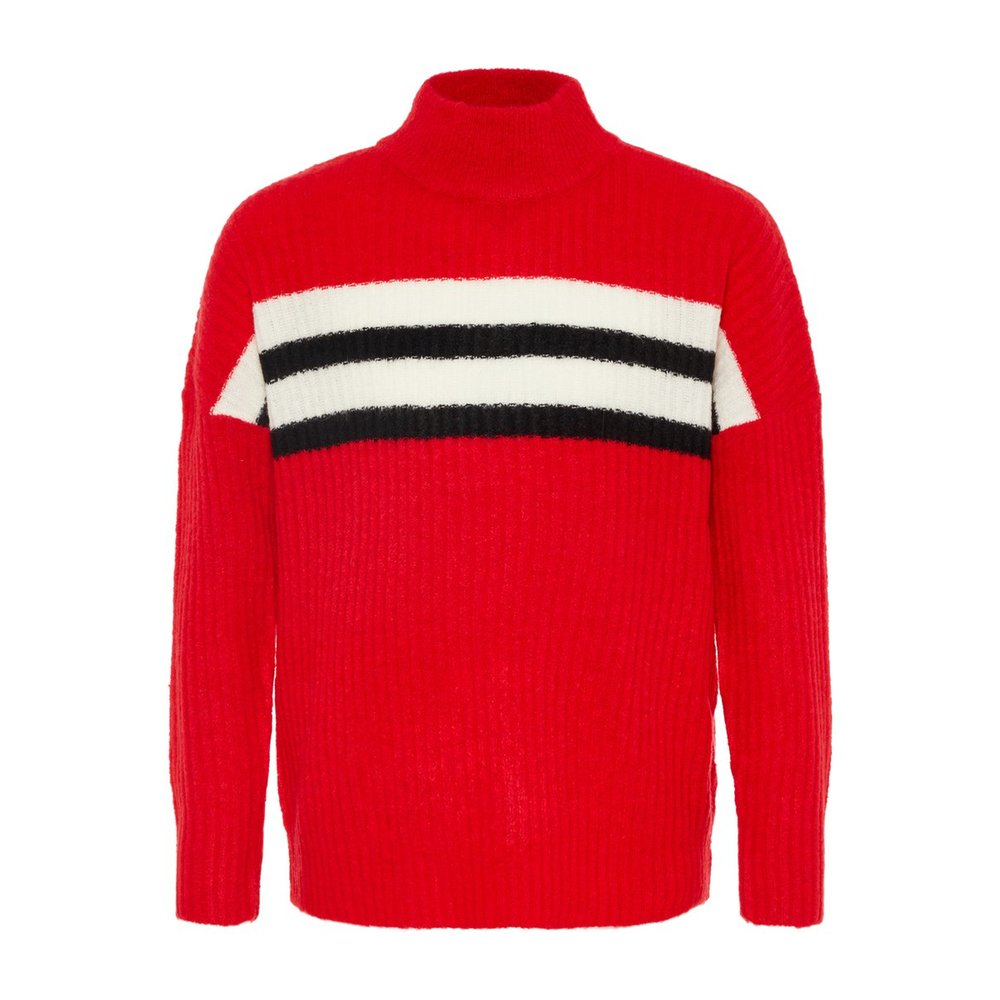 Pullover knitted high neck
