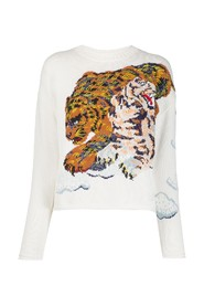 Cloud tigers embroidery jumper